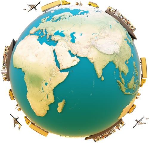 Gütertransport um die Welt